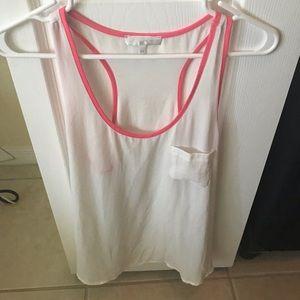 Francesca's white & pink tank top
